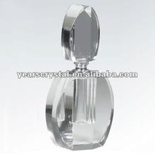 Handicraft K9 Crystal Perfume Bottles For Company Souvenirs