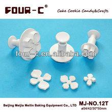 Hydrangea plastic plunger cutter set 3,fondant/sugarcraft/gumpaste/marzipan cutters