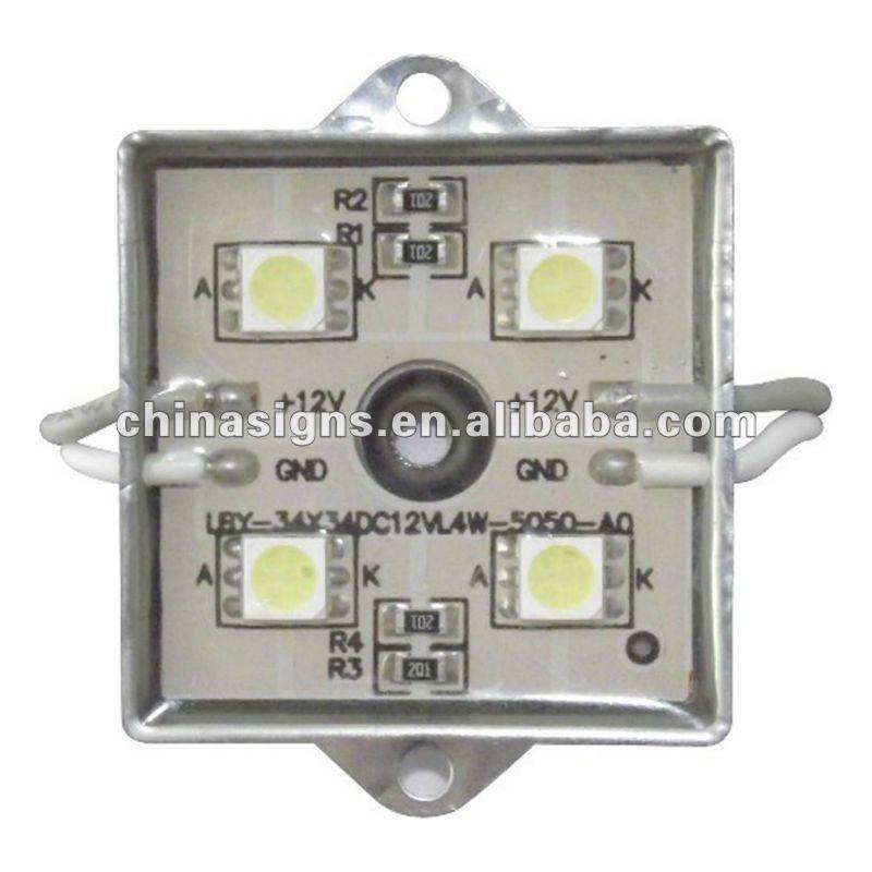 35mm*35mm Waterproof LED Module(SMD 5050,4LEDs,metal shell,white light)