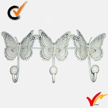 French farmhouse butterfly metal hooks