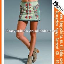 Wholesale denim skirts 2013 fashion denim skirts for girls in short skirts (HY4136)
