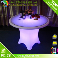 outdoor party table modern glass top table wholesale LED furniture