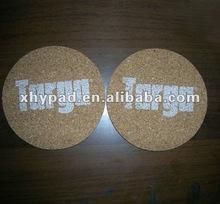 round printed cork board coaster