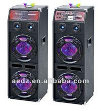 2.0 active professional usb sd fm subwoofer dj sound speaker box