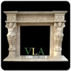 Modern Fireplace Surround, Wood Burning FireplaceVFM-AN022
