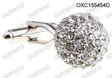 2012 Austrian crystal elements ball cufflinks ,Austrian men accessory