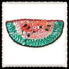 watermelon applique,sequin and beads pattern,sequin transfer