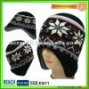 Fashion Ear flap Beanie Hat Crochet Pattern BN-0070