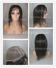 jewish kosher wig with silk top virgin mongolian human hair full lace wig