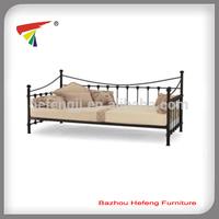 Metal bed furniture wooden slats folding futon day bed