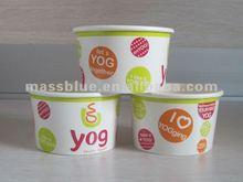 Gıda sınıfı tek kağıt dondurulmuş yoğurt konteyner/kağıt gıda kase