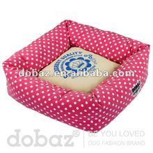 Sweet spot square pet dog beds,100% polyester pink pet dog beds