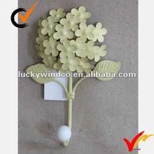 French vintage cream flower metal hook
