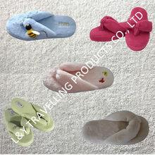 Preimum quality indoor,bedroom,house use ladies fleece flip flops