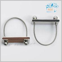 custom design leather swing keychain