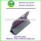 Wholesale folding PU leather stand case for ipad mini