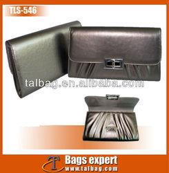 New style metallic pu leather clutch bag