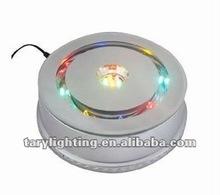 adapter powered&batteries powered 18cm multi color led crystal light base rotating LED light base
