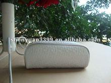2012 trendy PU braided ladies cosmetic bags low price