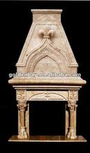 beautiful palatial gothic mantel sculpture fireplace mental