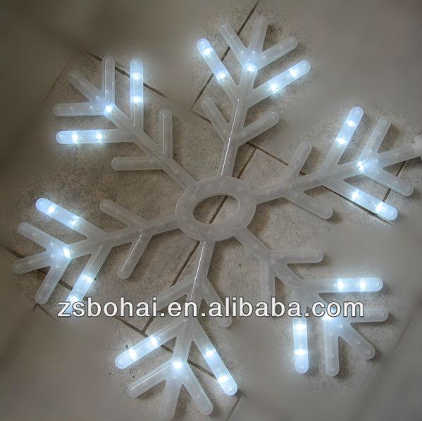 white led snowflake lights