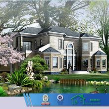low cost light steel structure duplex villa