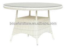 White Wicker Round Dining Table White Wicker Garden Table