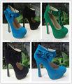 2014 flor moda sapatos de salto alto