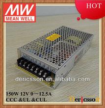 MEANWELL UL&CE 110V/220V Input 150W 12V 12.5A Single Output SMPS NES-150-12