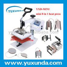15*20cm mini size 8 in 1 multipurpose combo heat transfer machine for ipad, mini ipad covers