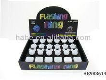 Flashing novelty ring