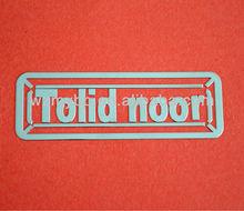 Copper + Nickel Sticker electroform ,adhesive label sticker