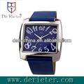 2013 atacado preço italiano marca de relógios liga shell pu cinta do relógio de quartzo