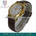 Montre de quartz de cuir de coquille d'en cuivre de montre de paidu d'approvisionnement du prix de gros 2013