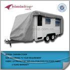 UV protect and waterproof light grey caravan cover