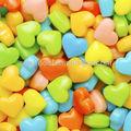coloridos em forma de coração pressionado candy