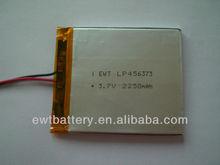 LP456373 3.7V 2250mAh li-polymer battery