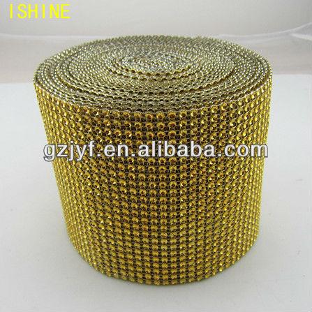 Preço de fábrica 24row 3 mm strass strass malha rolo para o vestuário decoração