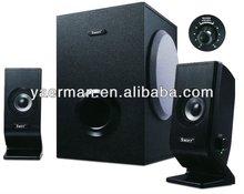 2012 hot sell wood computer speaker ,2.1 Subwoofer Speaker