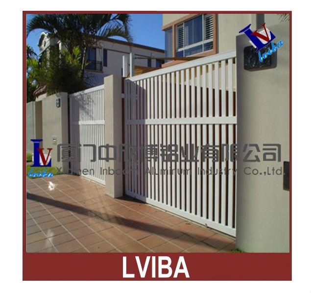 Lectrique aluminium principal cl ture porte designs avec moteur maison port - Porte principale maison ...