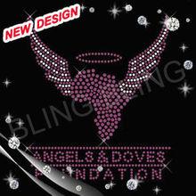 Angel designs Rhinestone Motifs Transfers Blings