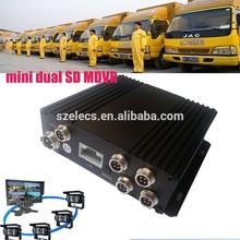 HOT cheap basic SD card 4 channels mobile dvr with GPS tracking for 8V-36V vehicle fleeting management