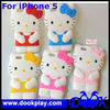 Cute Silicon Case for iPhone 5 iPhone5 3D Hello Kitty Cover