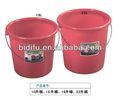 cubo de plástico de color rojo con asas de plástico cubo 15l