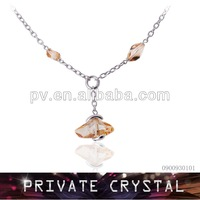 Gold Crystal Pendant Necklace,White Gold Necklace,Fashion Jewelry Wholesale