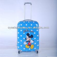 """16"""" 20"""" 24"""" 28"""" ABS+PC polka dot printed hard luggage manufacturer"""