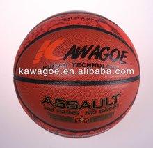 Laminated cheap leather basketballs