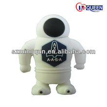 2.0 Customized Products Astronaut Shaped High Speed PVC Robot USB Flash Memory