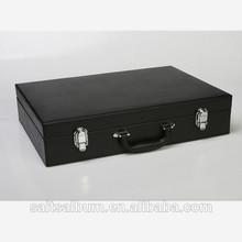 grey/black/brown suitcase for album metal/pu handle
