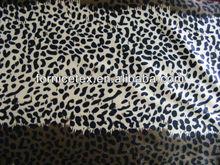 100% polyester fashion animal printed velboa fabric